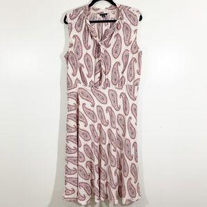 Ann Taylor Petite 16P Sleeveless Pink Paisley Midi